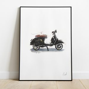 Vespa Black and Tan